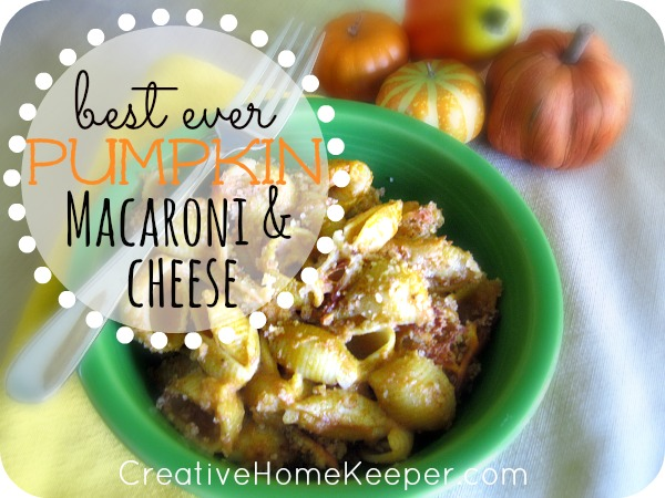 This pumpkin macaroni and cheese dish is delicious and a crowd pleaser ...