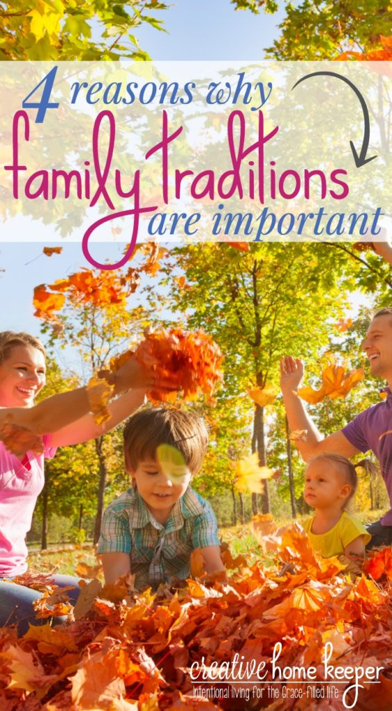 Family traditions are important for several different reasons. Not only do they create special memories but they also develop strong family relationships. Traditions seem to be much more prevalent around the holidays but there are plenty of traditions that make the ordinary days extraordinary.