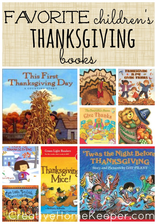 Favorite Children's Thanksgiving Books: Looking to spend time reading together as a family this holiday season? Check out these Thanksgiving Children's books for inspiration to spend time together as a family this Thanksgiving season. From board books to early readers, there is something for everyone on this complete list! | CreativeHomeKeeper.com