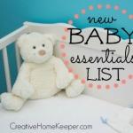 New Baby Essentials List featured