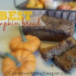 The BEST Pumpkin Bread {egg and nut free}