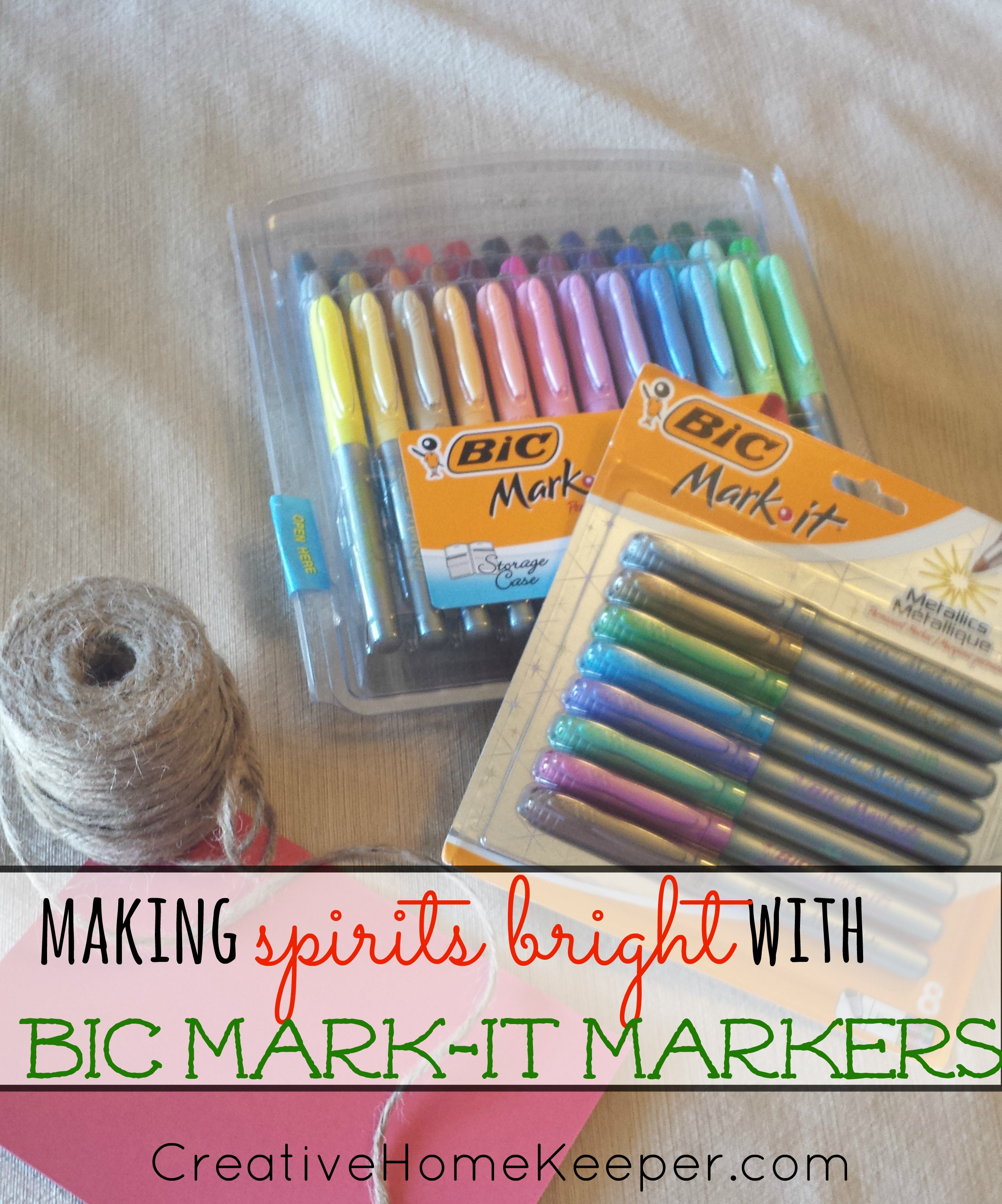 Making Spirits Bright With Bic Mark-It Markers | CreativeHomeKeeper.com