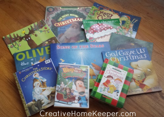 Build memories and teach your children the true meaning of Christmas with this fun Advent storybook countdown collection of books the whole family will love. 24 books that both focus on Christ's birth but also a few the include the fun traditions of the holiday season. | CreativeHomeKeeper.com