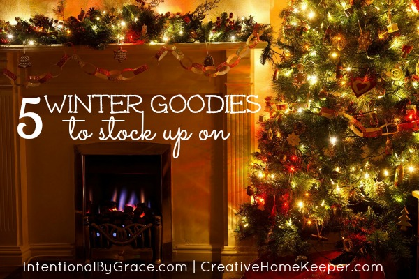 5 Winter Goodies to Stock Up On: As the weather turns colder, it's always a good idea to have some comforts in your pantry and home, this list of winter goodies to stock up on will make those cold winter days more enjoyable. | CreativeHomeKeeper.com