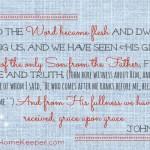 John 1: 14-16 {Bible to Brain to Heart Scripture Memory Challenge}