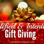 Simplified and Intentional Gift Giving