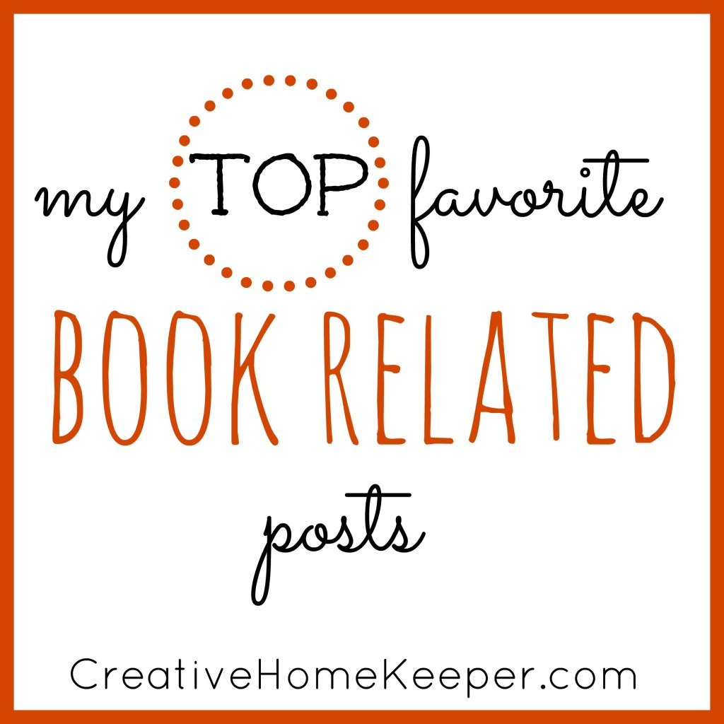 My top favorite book related posts where I share my love of reading and all things book related from favorite books to tips on how to finding the time to read.