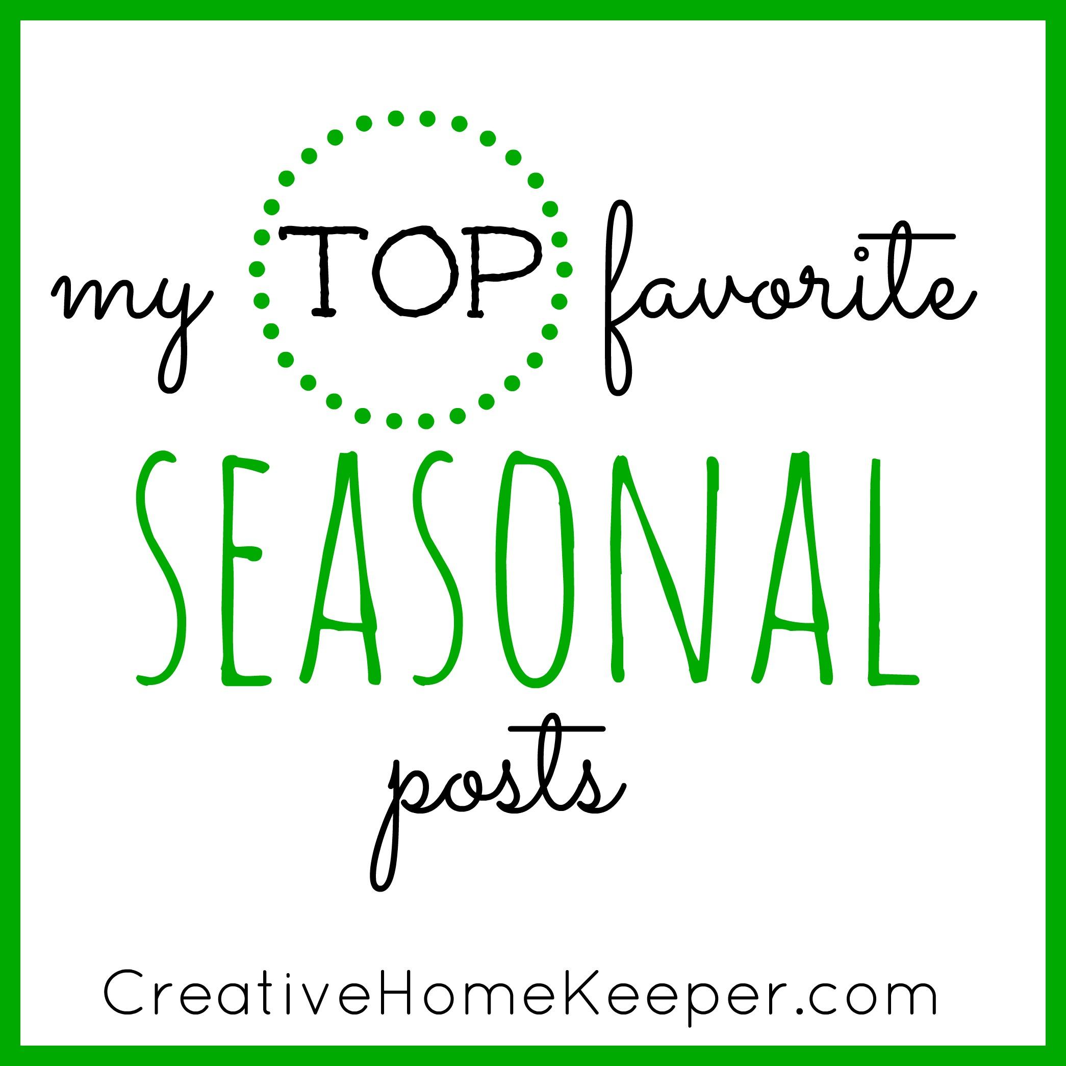 My Top Favorite Seasonal Posts