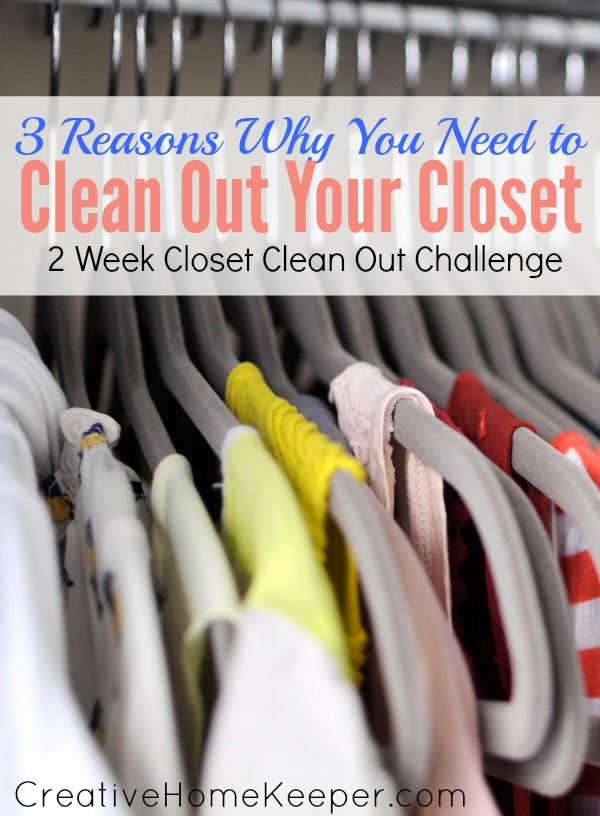 "Is your closet stuffed and overflowing? Do you hate having ""nothing to wear""? It's time to tackle the 2 week closet clean out challenge!"