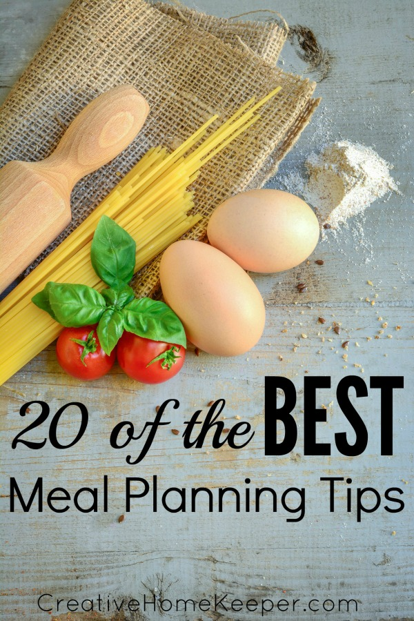 New to meal planning or want to get back into a better routine, check out these 20 of the best meal planning tips to help you save time and money and to become a pro in your kitchen.