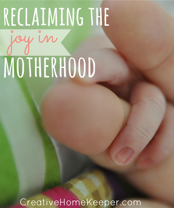 Motherhood can be exhausting, draining, hard work and sometime the simple joys can be lost. One mom shares how reclaiming the joy in motherhood can only be found in one place.