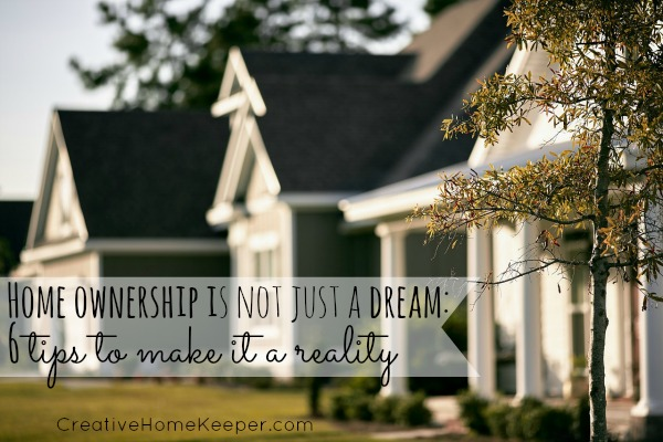 Home ownership is a dream held by many but for a lot of people it can feel like that dream is out of reach. It doesn't have to be thought, the dream of owning your own home is very realistic with a little bit of planning. These 6 tips can take home ownership from a dream to a reality.