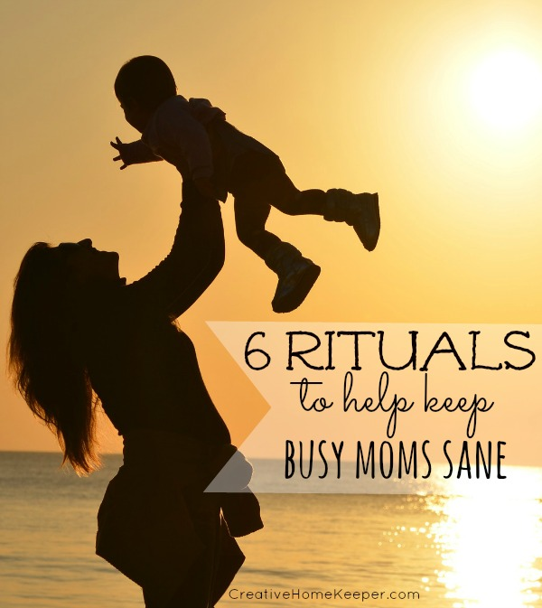 Our days as busy mothers are filled to the brim but having certain rituals in place to keep you sane and focused can greatly impact your day. These 6 rituals to help keep busy moms sane are tried and true routines and practices that anyone can incorporate into their day to keep the peace and productivity,