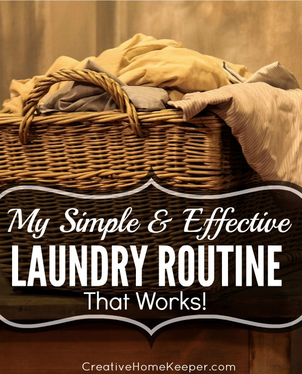 A simple and effective laundry routine that not only helps to stay on top of the laundry but it also saves time too!