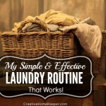 My Simple and Effective Laundry Routine