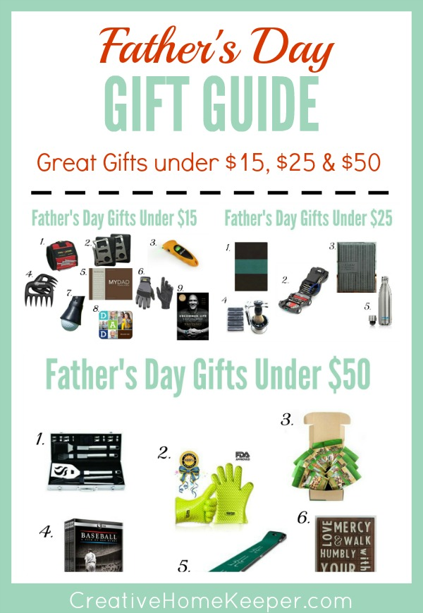 Looking for the perfect gift for dad? This ultimate Father's Day gift guide contains gifts for all budgets including DIY homemade gifts to prices ranging from $10 to $50.