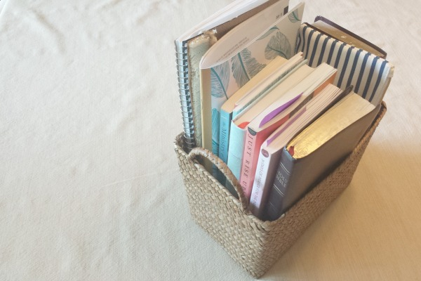 The Sanity Saving Tactic of Keeping a Bible Book Basket