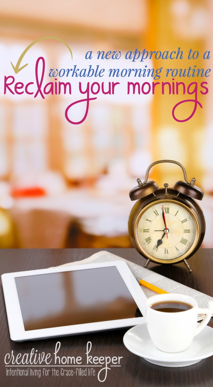 Think it isn't possible to have a morning routine with a couple of little ones? As a mom of 3 little ones, I'm sharing how I am reclaiming my mornings to start each day with focus, purpose and intention. Even with a newborn it is possible to use my morning hours well!
