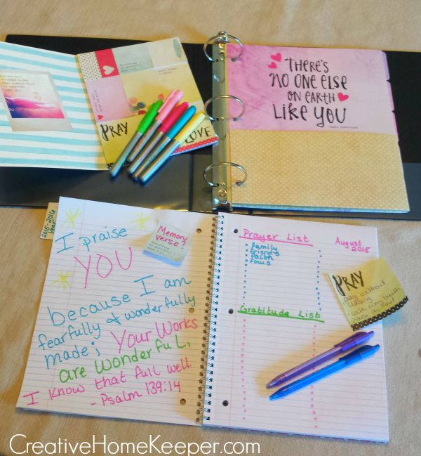 Live Original Prayer and Inspirational Journal:Help your daughters to Live Original with creating a prayer and inspirational journal to record their prayers, write favorite Scripture passages, or anything that inspires creativity.| CreativeHomeKeeper.com