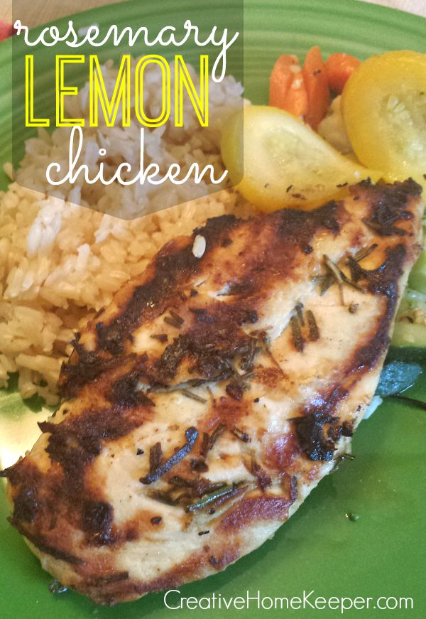 This savory rosemary lemon grilled chicken is super fast and easy to make, uses only a few real-food ingredients, can be made ahead, is freezer friendly and is oh-so-delicious! Perfect for nights when you need to get dinner on the table fast, this chicken is a family favorite!