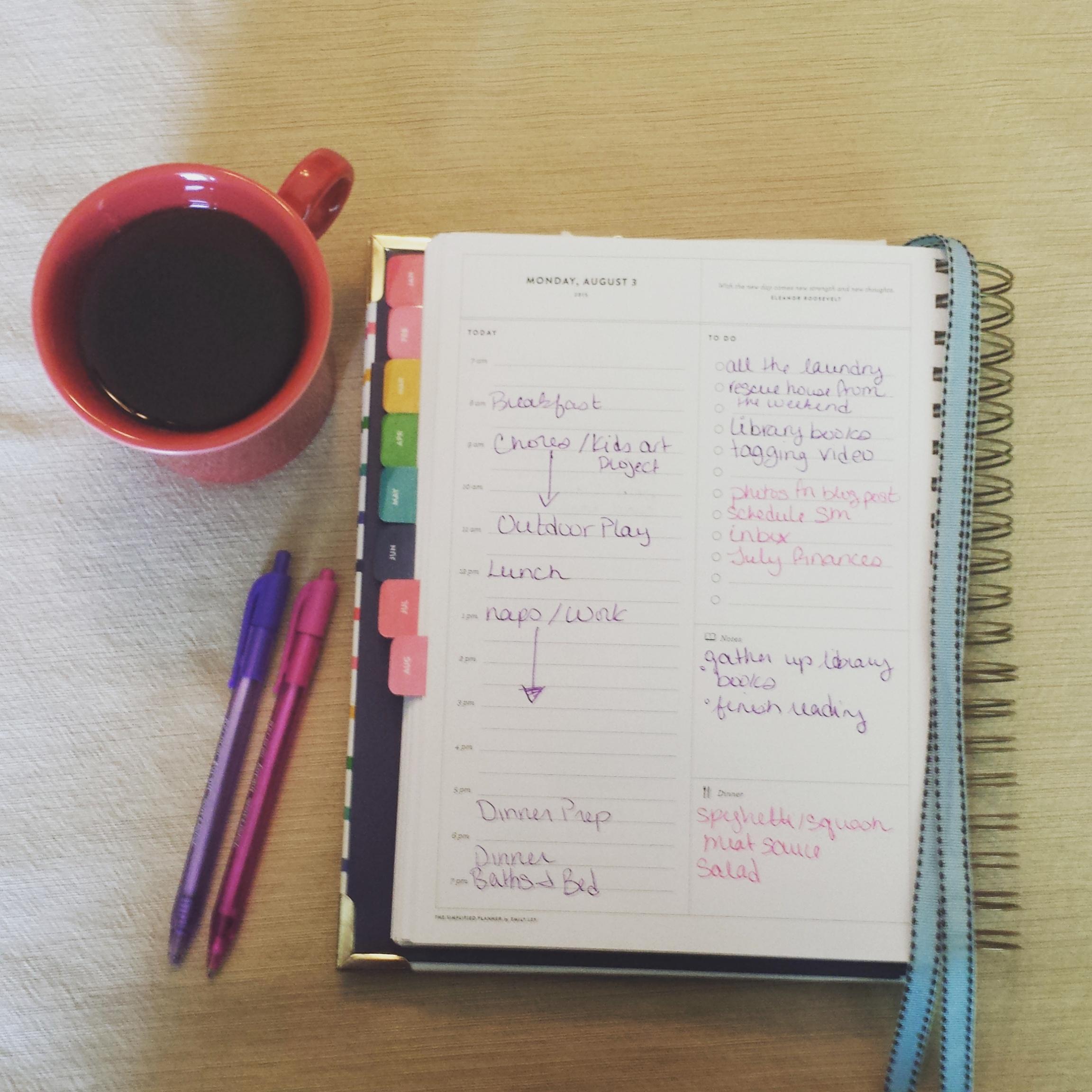 Inside My Simplified Planner