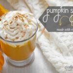 Pumpkin Spice Latte {Made with Real Pumpkin!}