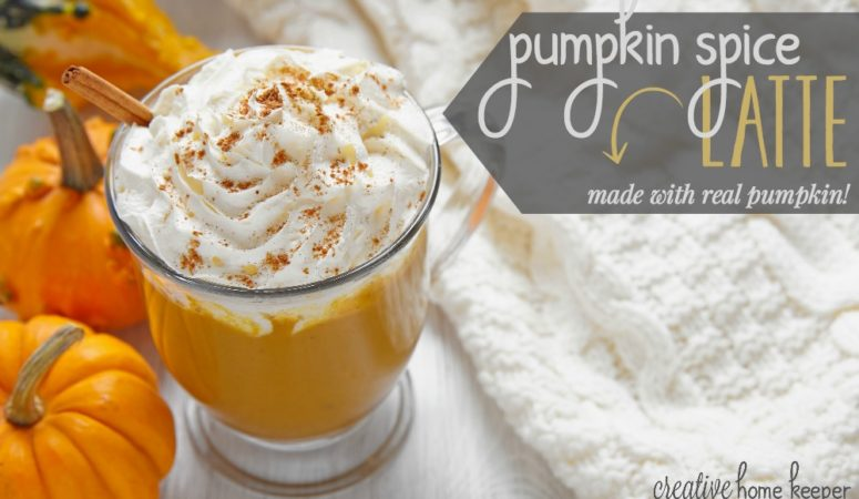 Pumpkin Spice Latte {Made with Real Pumpkin!}