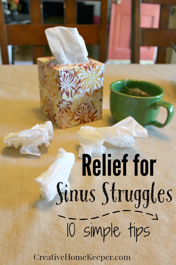 Relief for Sinus Struggles {$25 Giveaway!}
