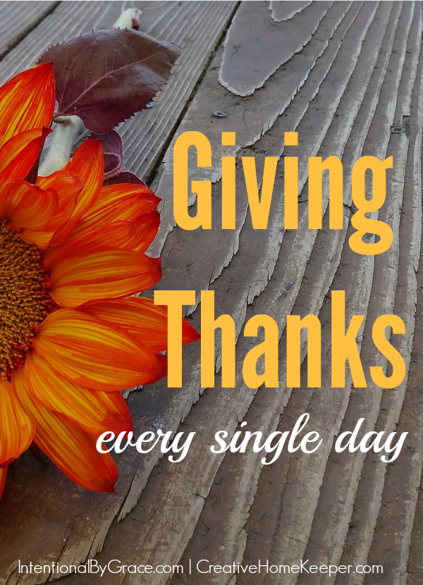 Sometimes we overlook even the simplest of things but when we start the practice of giving thanks every day, our whole outlook changes.