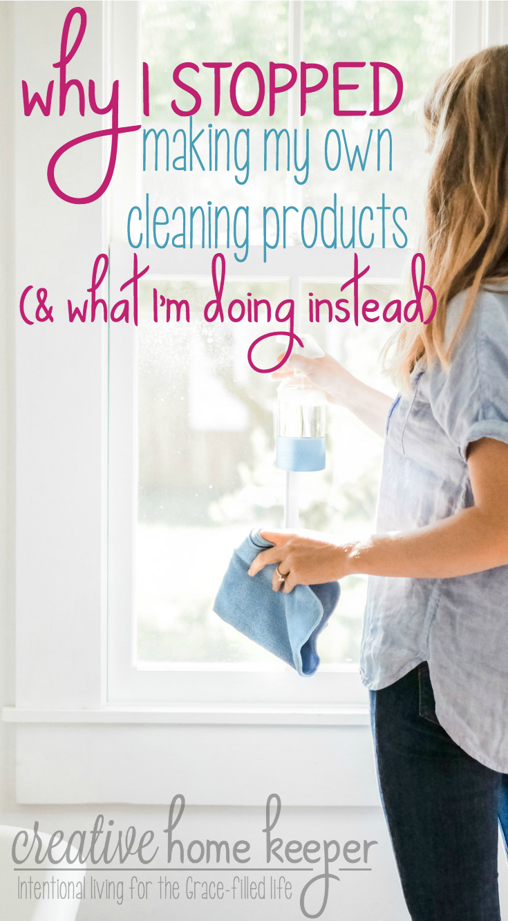 I love using safe and natural cleaning supplies but sometimes life gets in the way of best intentions. It's OK to let go of the guilt and self-imposed expectations to stop making your own DIY natural cleaning supplies. You can still clean safely, effectively and on budget with a few well priced store bought options.