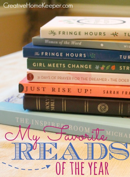 As the year ends and I look back and reflect I am reminded of my favorite reads of the year, the books that challenged and encouraged me and grew my faith. This is my list of favorite books I read from the past year.