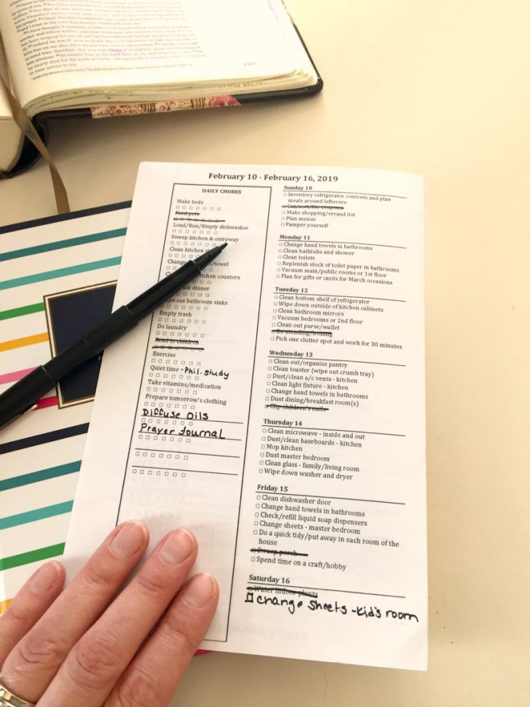 Motivated Moms Cleaning Checklist