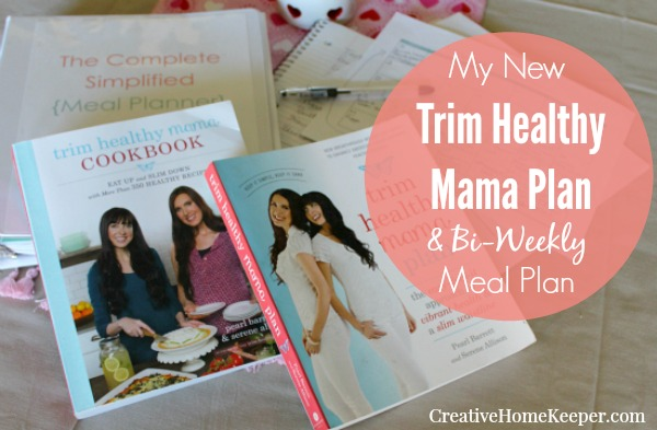 A simple two-week Trim Healthy Mama meal plan for a busy mom who wants to cook with real, whole food ingredients and get dinner on the table quickly!