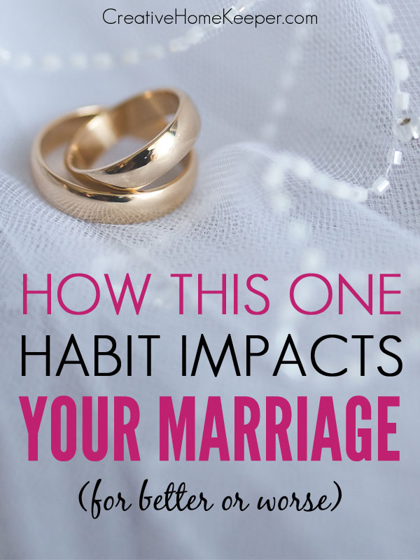 Want a stronger, more unified marriage? You can greatly impact your marriage with this one small habit.