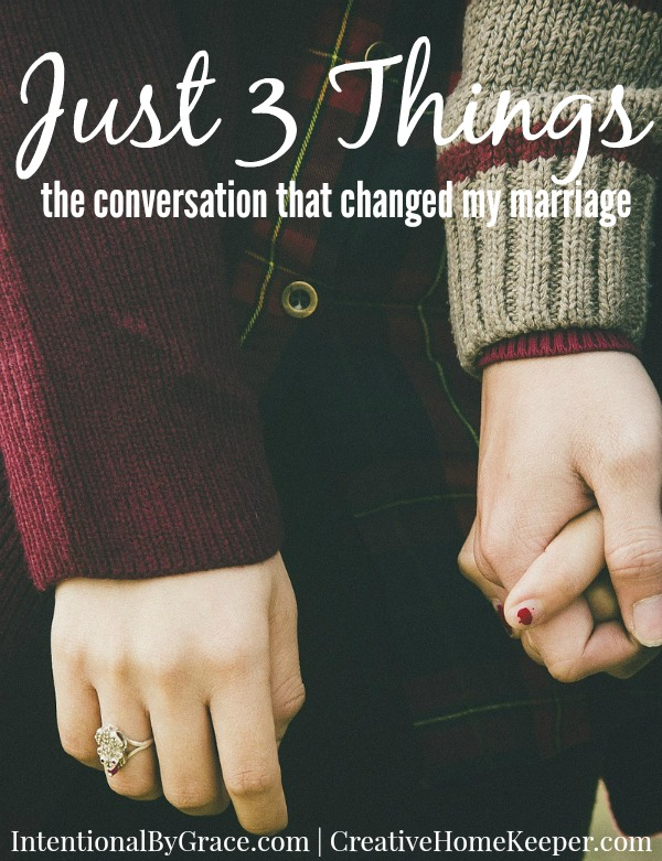 This simple exercise of sharing just 3 things has changed our marriage... for the better.