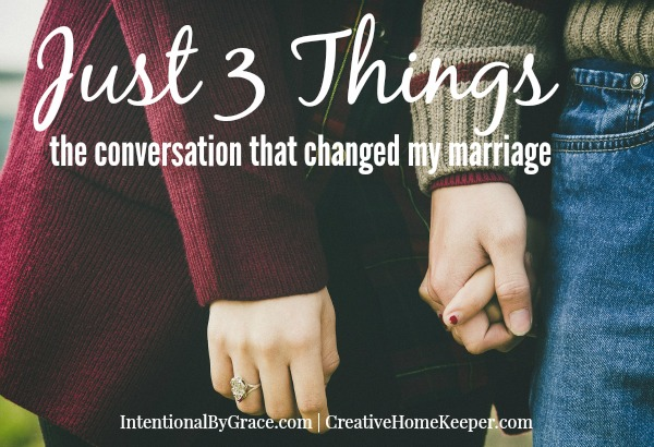 3 Things that Changed My Marriage