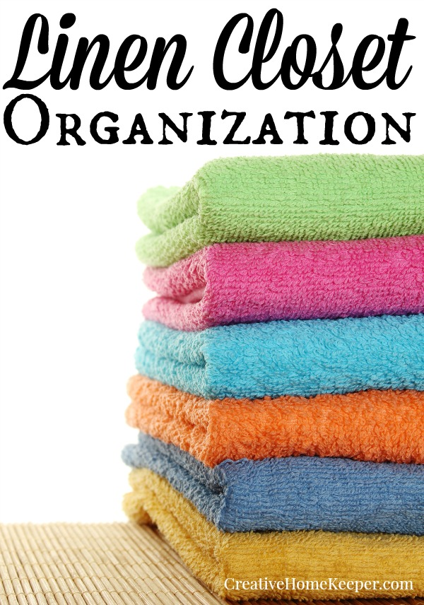Sort through, purge and learn how to fold and store your towels & sheets with these linen closet organization tips and tricks.
