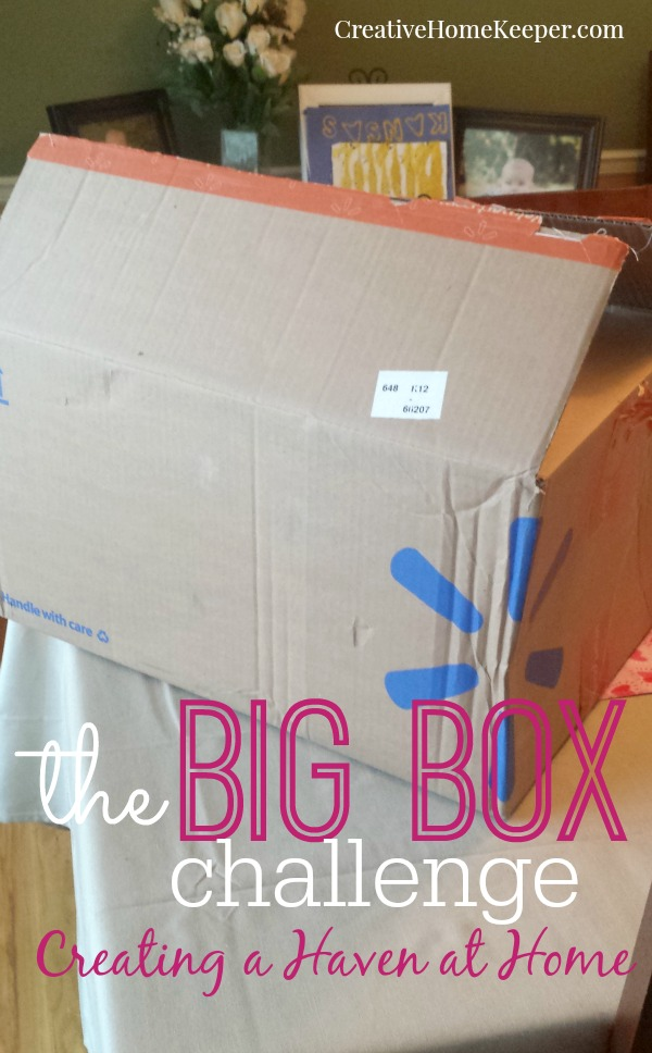 Ready to start decluttering your house but don't know where to start? How about with the Big Box Challenge? It's simple, only takes a few minutes, and allows you to give your home a quick sweep through before you actually begin the process of a big room-by-room overhaul.