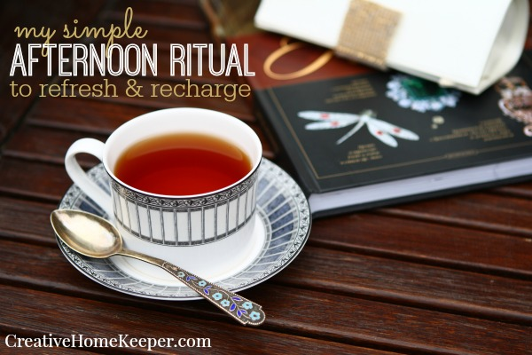 My Simple Afternoon Ritual to Refresh & Recharge