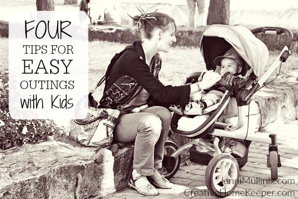Outings with kids can be overwhelming and exhausting but they don't have to be! These four easy reminders will help you manage your time as a Mommy-on-the-go and will help your kids behave and know what to expect.