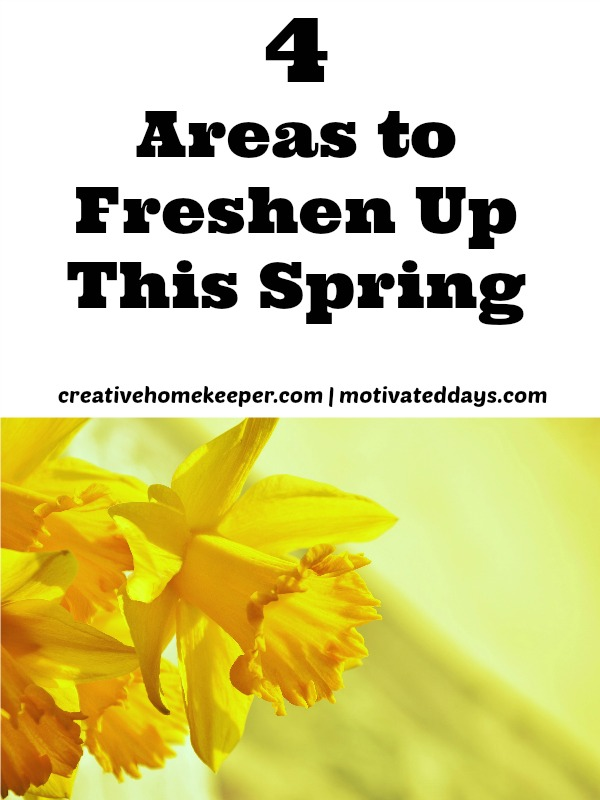 Spring cleaning more than just tidying and cleaning the house. Don't forget these 4 areas to freshen up this spring. Growing your faith and taking care of your body impacts all areas of your life, home and family.