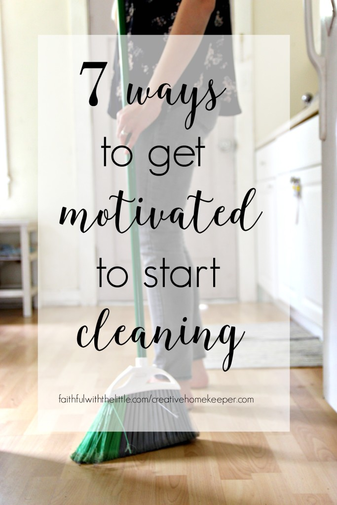 Do you struggle to get motivated to start cleaning? Do you feel so overwhelmed you don't even know where to start? These 7 tips will help you focus and jump right on in of the daily cleaning and homemaking tasks that need to be done. You might even find you enjoy cleaning!