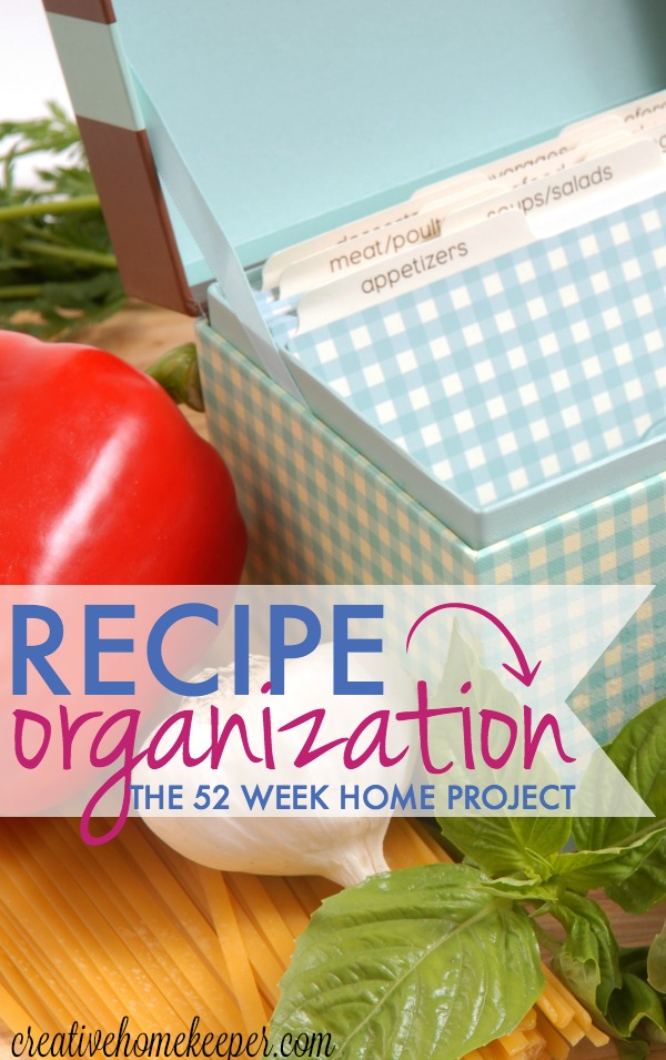 You want to know the key to successful meal planning and kitchen organization? Recipe organization! Do you have more clipped and printed recipe cards than you know what to do with? Is meal planning a real chore? Make it simpler by sorting through, purging and organizing all of your family favorite recipes into one recipe binder