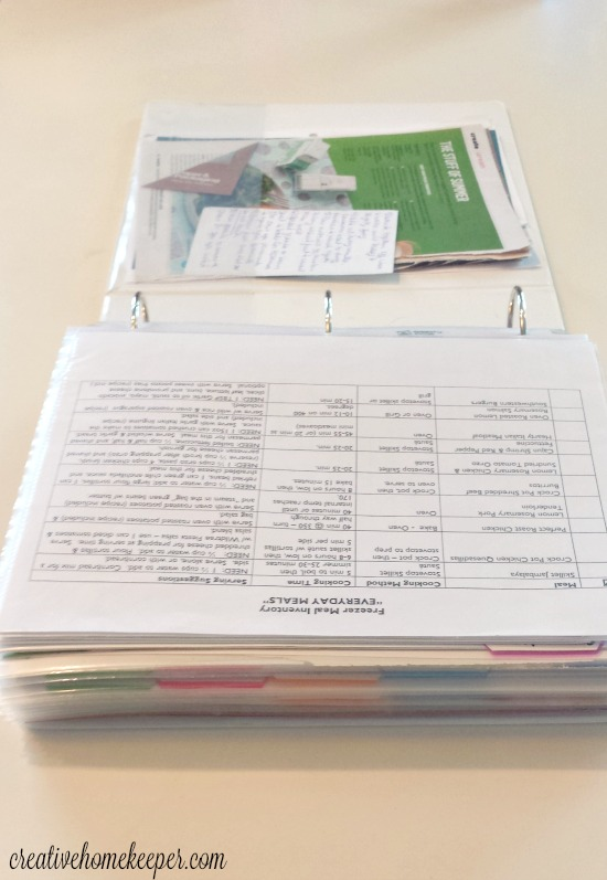 Recipe organization binder 2