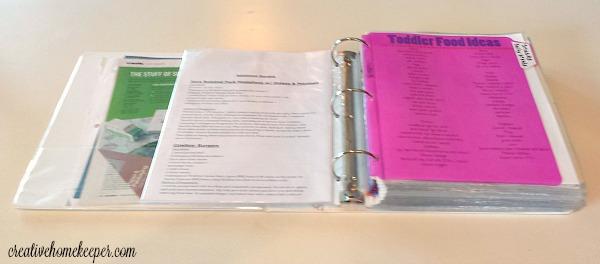 Recipe organization binder 3