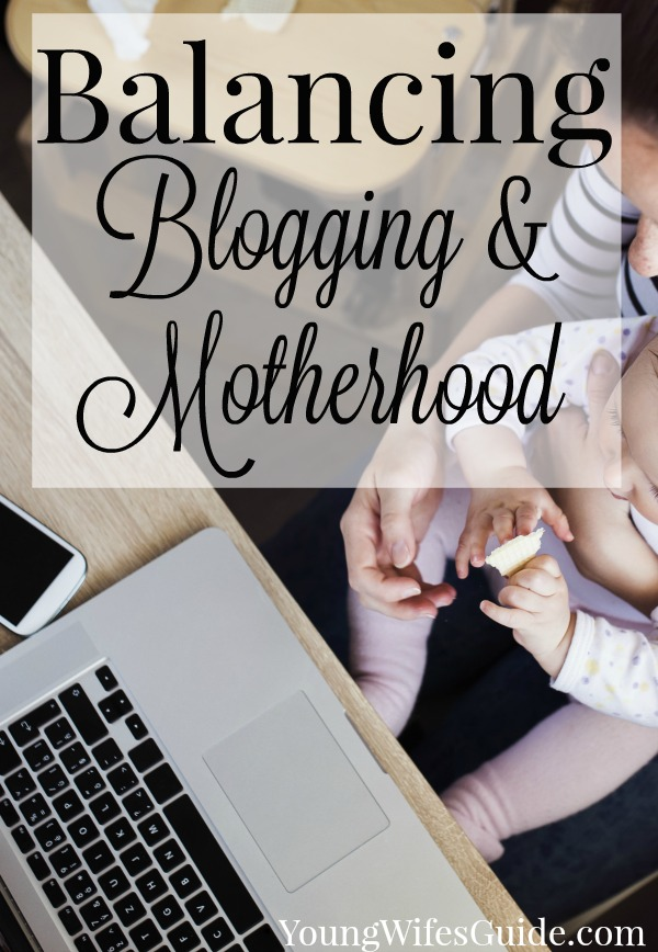 "Balancing blogging and motherhood can be tricky at times. There's a fine line between ""work hours"" and ""real life hours"" and many times they intersect. But it is possible to find balance and thrive in both your roles as a work-at-home-mom and devoting your time and energy to your family."