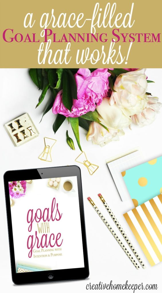 Are you tired of setting goals that don't matter or never actually get accomplished? Are you ready to live with more intention & purpose every single day? Goals with Grace is just what you need! A complete goal & personal planning system with a PDF eGuide, workbook, gorgeous printables, planner pages and so much more! Set goals that matter today!
