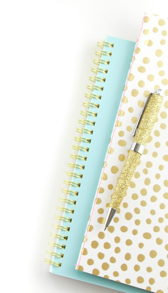 cropped notebooks