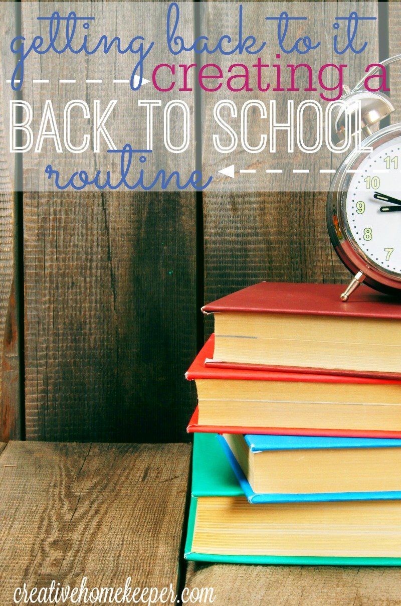 After a long and lazy summer, are you ready to get into a back to school routine? Getting back to it can be hard but with these 6 simple tips to help you ease back into a routine that works for you, your family will start the new school year on the right foot!