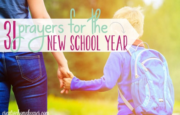 Prayer Calendar for the School Year